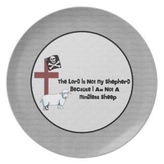 No una oveja despreocupada plato para fiesta