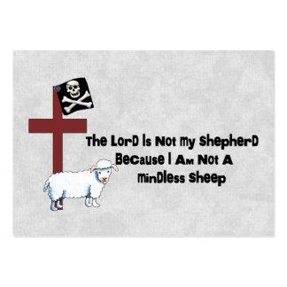 No una oveja despreocupada tarjetas de visita grandes