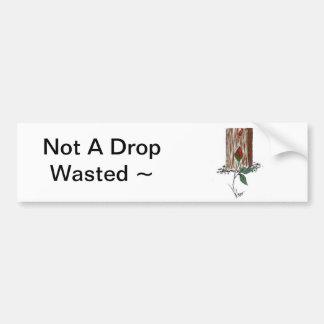 No una pegatina para el parachoques perdida descen etiqueta de parachoque