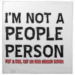 No una persona de la gente servilletas de papel