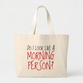 No una persona de la mañana bolsas