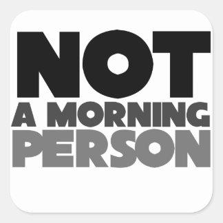 No una persona de la mañana colcomania cuadrada