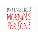 No una persona de la mañana postal