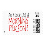 No una persona de la mañana sello