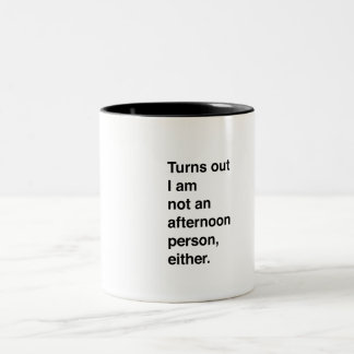 No una persona de la tarde tampoco taza de dos tonos