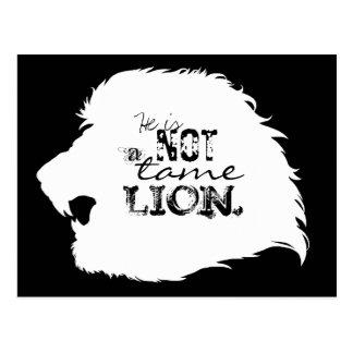 No una postal doméstica del león