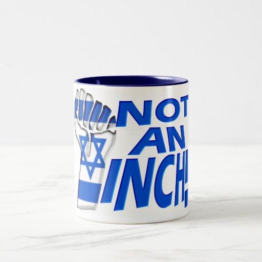 No una pulgada tazas de café