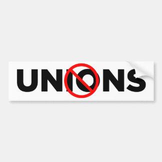 No Unions Bumper Stickers