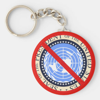 No United Nations Approval Needed! Basic Round Button Keychain