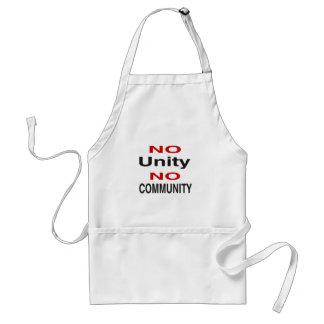 No unity no community adult apron