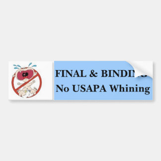 No USAPA Whining #2 Bumper Sticker