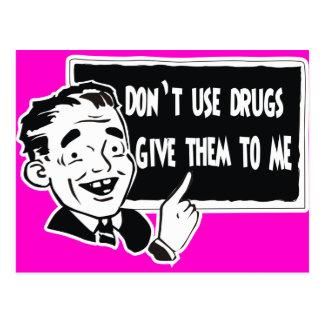 NO UTILICE LAS DROGAS TARJETAS POSTALES