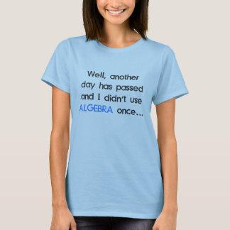 No utilizó álgebra una vez hoy playera
