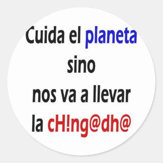No. Va del EL Planeta de Cuida chino un La Etiquetas Redondas