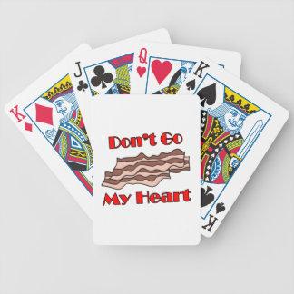 No va el tocino mi corazón baraja cartas de poker