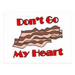 No va el tocino mi corazón tarjeta postal