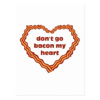 No va el tocino mi corazón tarjetas postales