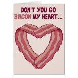 No va el TOCINO mi corazón - tarjeta romántica par