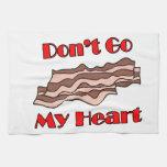 No va el tocino mi corazón toalla de cocina