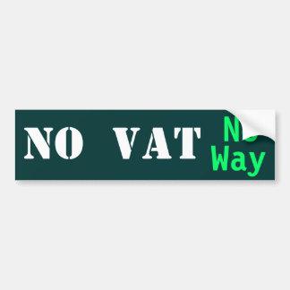 NO VAT   No Way! Car Bumper Sticker
