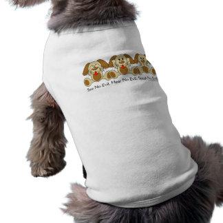 No vea ningún perrito malvado playera sin mangas para perro