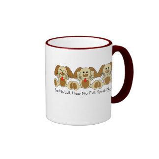 No vea ningún perrito malvado taza de café