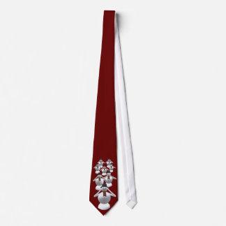 No vea, oiga, hable ningún lazo rojo del navidad corbatas personalizadas