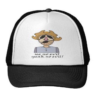 No vea y hable ningún mal gorras de camionero