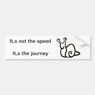 no velocidad viaje pegatina de parachoque