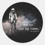 No veo a ningún dios para arriba aquí pegatinas