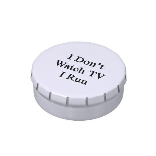 No veo la TV que corro Frascos De Caramelos