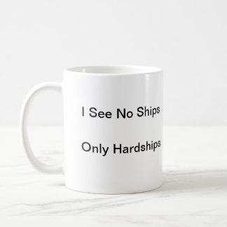 No veo ninguna nave, solamente dificultades taza básica blanca