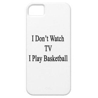 No veo TV I jugar a baloncesto iPhone 5 Case-Mate Coberturas