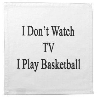 No veo TV I jugar a baloncesto Servilleta
