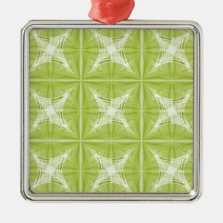 No. verde 1 del diseño creado por Tutti Adorno Navideño Cuadrado De Metal