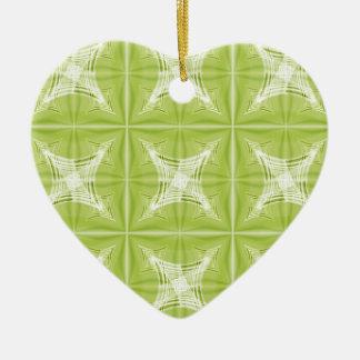 No. verde 1 del diseño creado por Tutti Adorno Navideño De Cerámica En Forma De Corazón