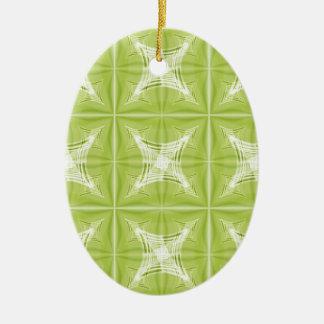 No. verde 1 del diseño creado por Tutti Adorno Navideño Ovalado De Cerámica