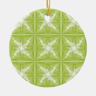 No. verde 1 del diseño creado por Tutti Adorno Navideño Redondo De Cerámica