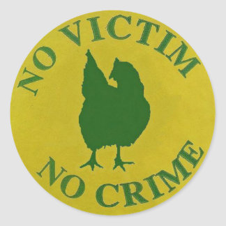 No Victim, No Crime Sticker