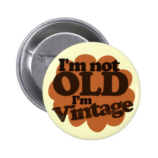 No viejo apenas vintage pin redondo 5 cm
