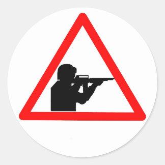 No-violence Classic Round Sticker
