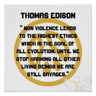 ¡No violencia! Edison-Personalizar de Thomas Impresiones