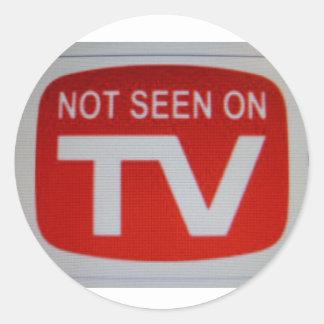 No visto en la TV Pegatinas Redondas