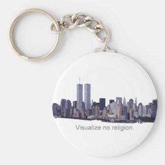 No visualice ninguna religión llavero personalizado