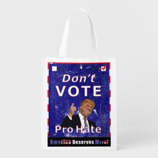 No vote el favorable poster de la campaña del odio bolsa de la compra