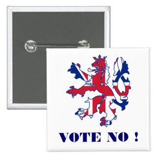 No vote ninguna independencia escocesa pin cuadrado