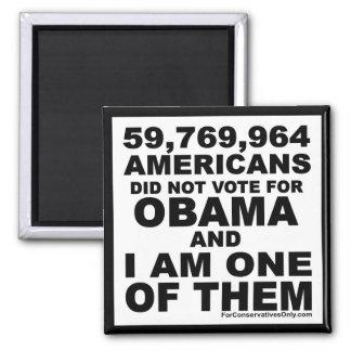 No voté por Obama Imán Cuadrado