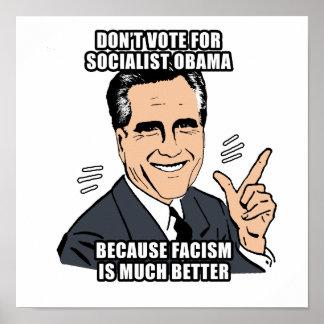 no vote por obama socialista - .png impresiones