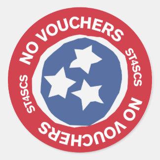 No Vouchers Classic Round Sticker