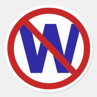No W Classic Round Sticker